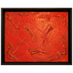 Philip Neri Framed Abstract Painting 1970