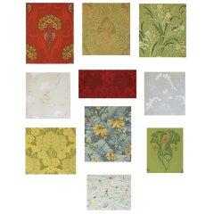 Collection of Ten Original Gouaches, 1900-1950