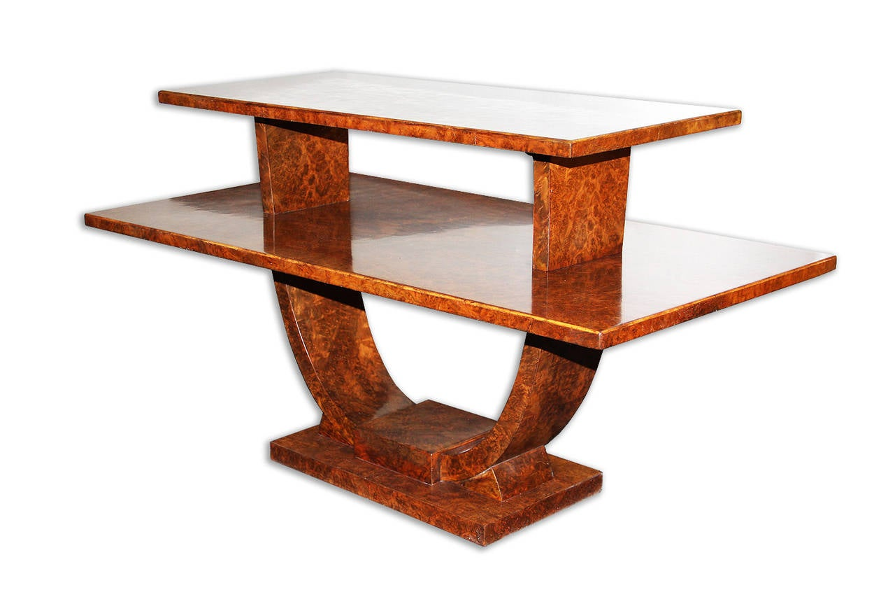 French Jules Leleu, Rare Coffee Table, France, 1930 For Sale