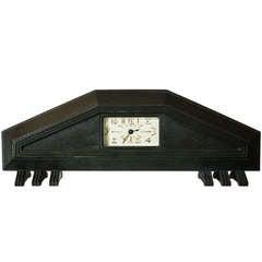 Rare Bronze Clock by Albert Cheuret, France circa 1925