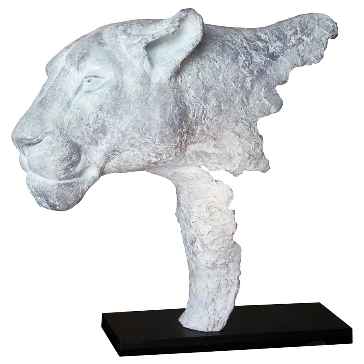 White lioness bronze sculpture for sale at 1stdibs - Bronze sculptures for sale ...