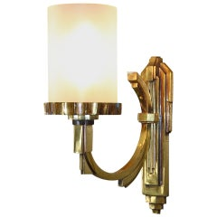Petitot One Gilt Bronze Art Deco Sconce 1930