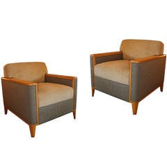 Pair of Club Chairs from Private Theater, circa 1950-1960