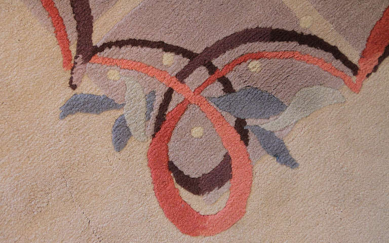 French Rare Knotted Rug by Batistin Spade, France, 1950 For Sale