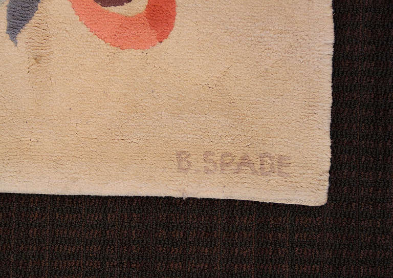 Rare Knotted Rug by Batistin Spade, France, 1950 In Excellent Condition For Sale In Los Angeles, CA