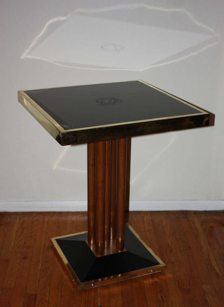 bistrot table from drouant reataurant paris at 1stdibs. Black Bedroom Furniture Sets. Home Design Ideas