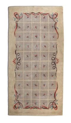 Batistin Spade Rare Knotted Rug France 1950