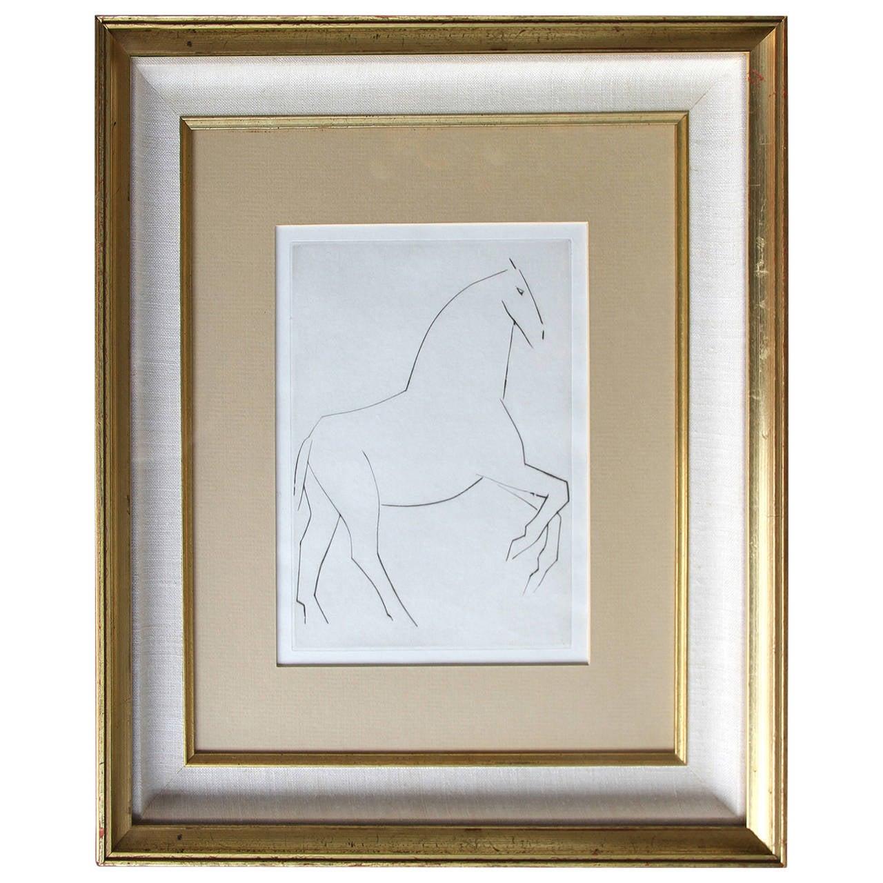 """Pablo Picasso """"Chevaux De Minuit"""" Etching, 1956 For Sale"""