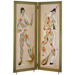 Maurice Alvo for Galerie Jean Royere, Harlequin Screen, France