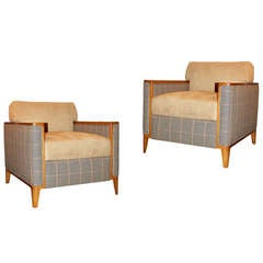 Pair of Private Theater Club Chairs, circa 1950-1960