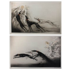 Louis ICART, Rare Aquatint Etchings, Speed & Coursing II