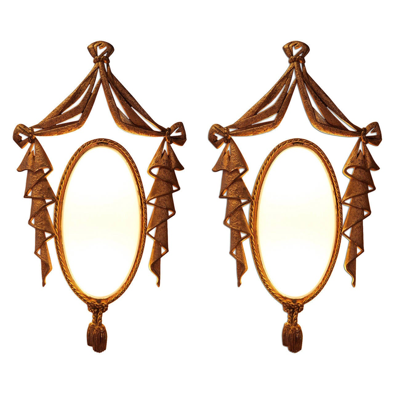 Very Elegant Pair of Bronze Sconces by J. Barat 1