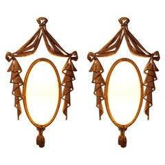 Very Elegant Pair of Bronze Sconces by J. Barat