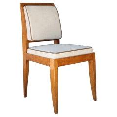 E.J. Ruhlmann: Rare And Elegant 1930 Oak Chair