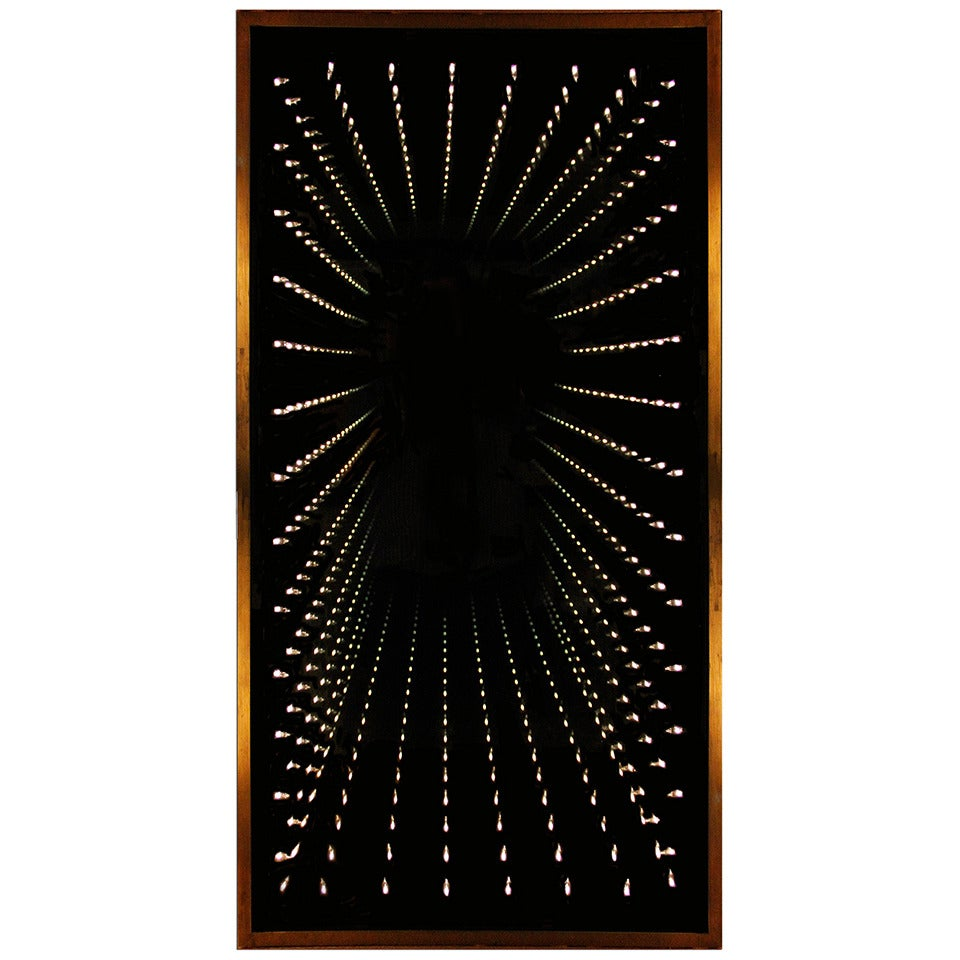 Authentic and Original 1970s Infinity Mirror For Sale