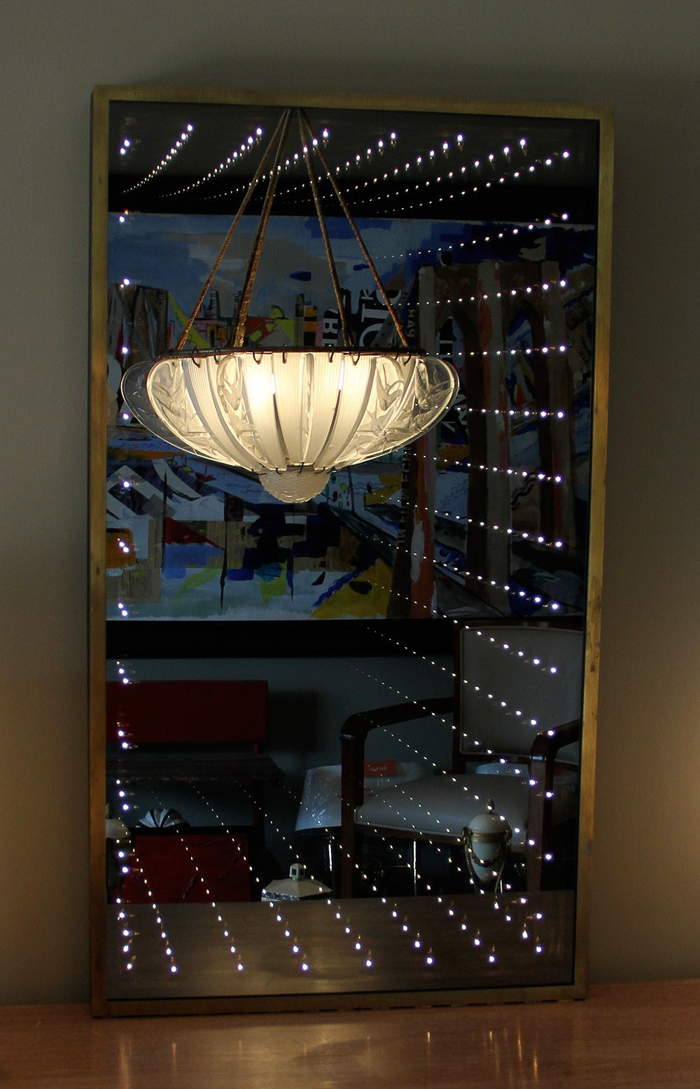 Authentic and Original 1970s Infinity Mirror In Good Condition For Sale In Los Angeles, CA