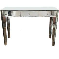 Mirrored Modernist Vanity or Desk