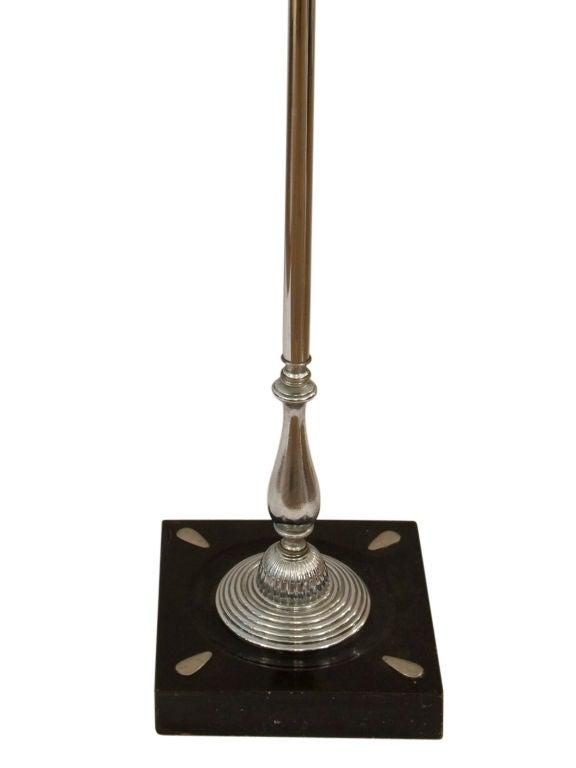 Unique art deco chrome floor lamp wih metal shade at 1stdibs for Lexington floor lamp chrome