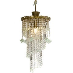 Beautiful cascading French crystal light fixture