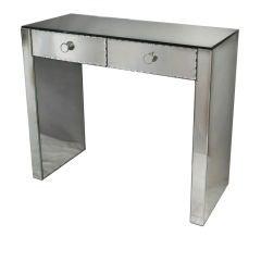 Elegant Art Deco french mirrored desk