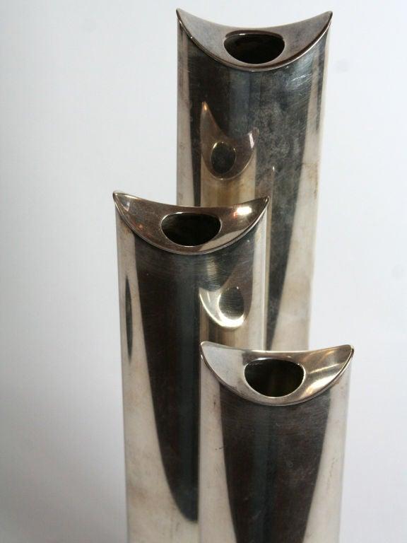 Sabatini sterling silver vases or candlesticks image 3