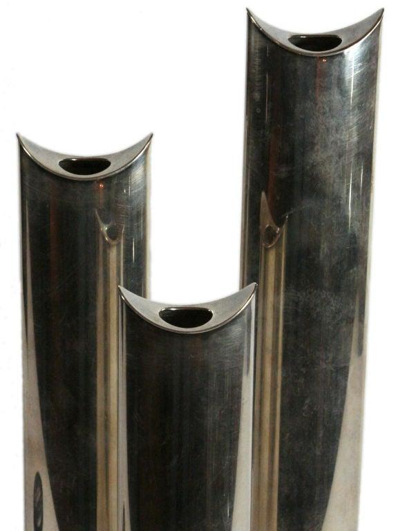 Sabatini sterling silver vases or candlesticks image 5