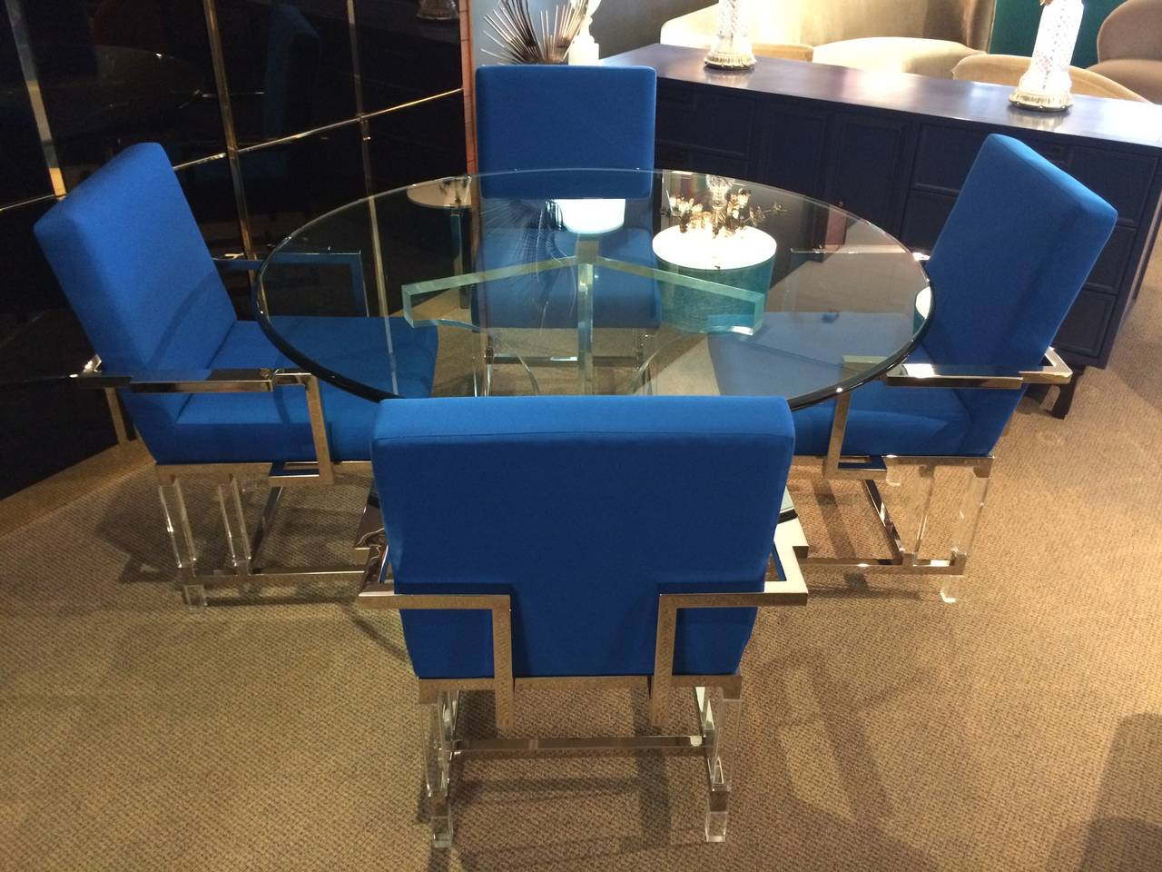 Mid-Century Modern Charles Hollis Jones Triple Arch Dining Table for the