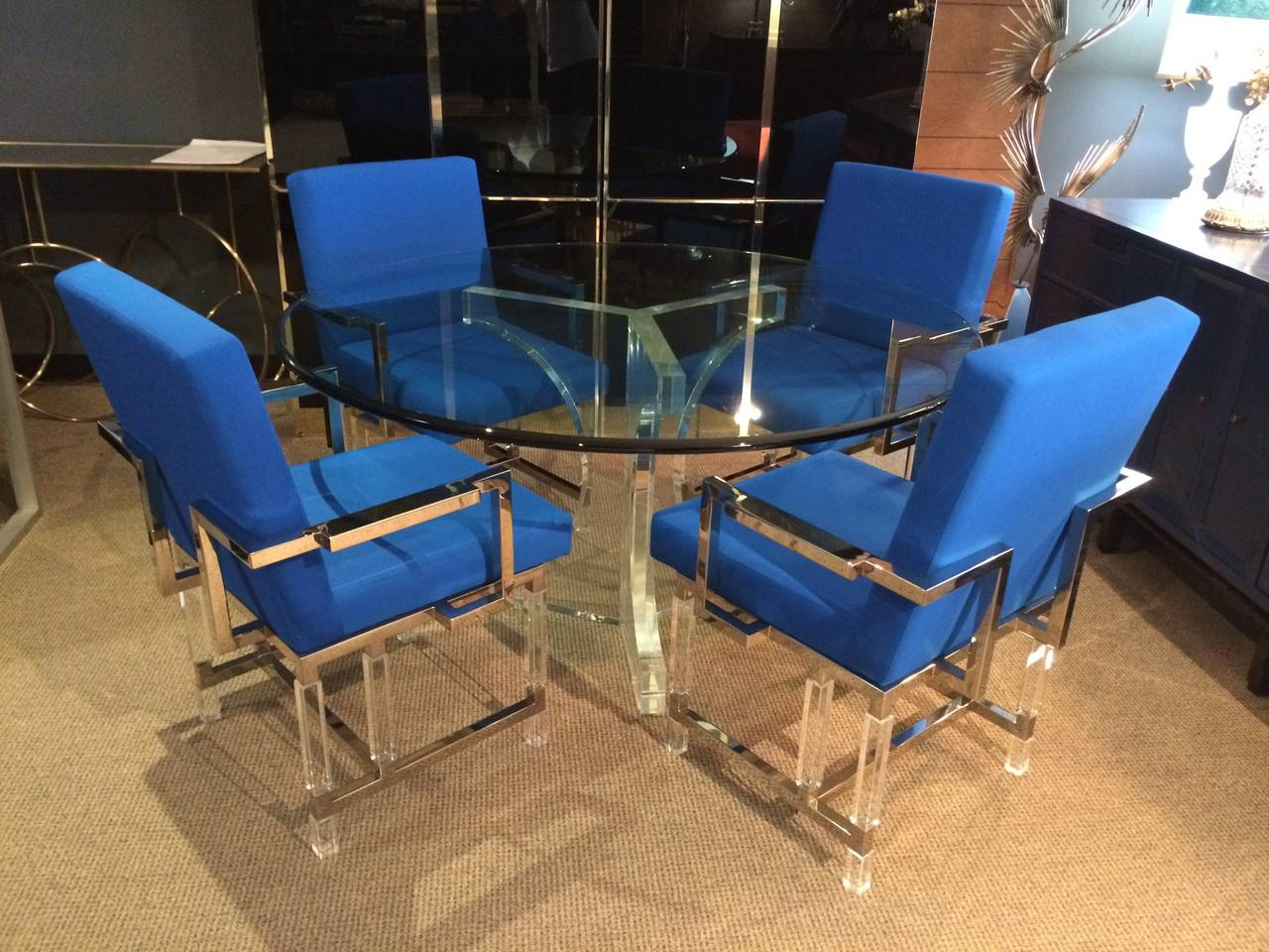 American Charles Hollis Jones Triple Arch Dining Table for the