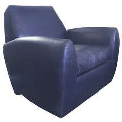 Dakota Jackson Leather Swivel Chair