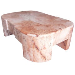 Mexican Modernism Marble Coffee Table