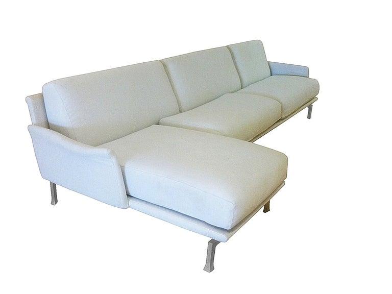 Italian Moroso Two Piece Sectional Sofa at 1stdibs
