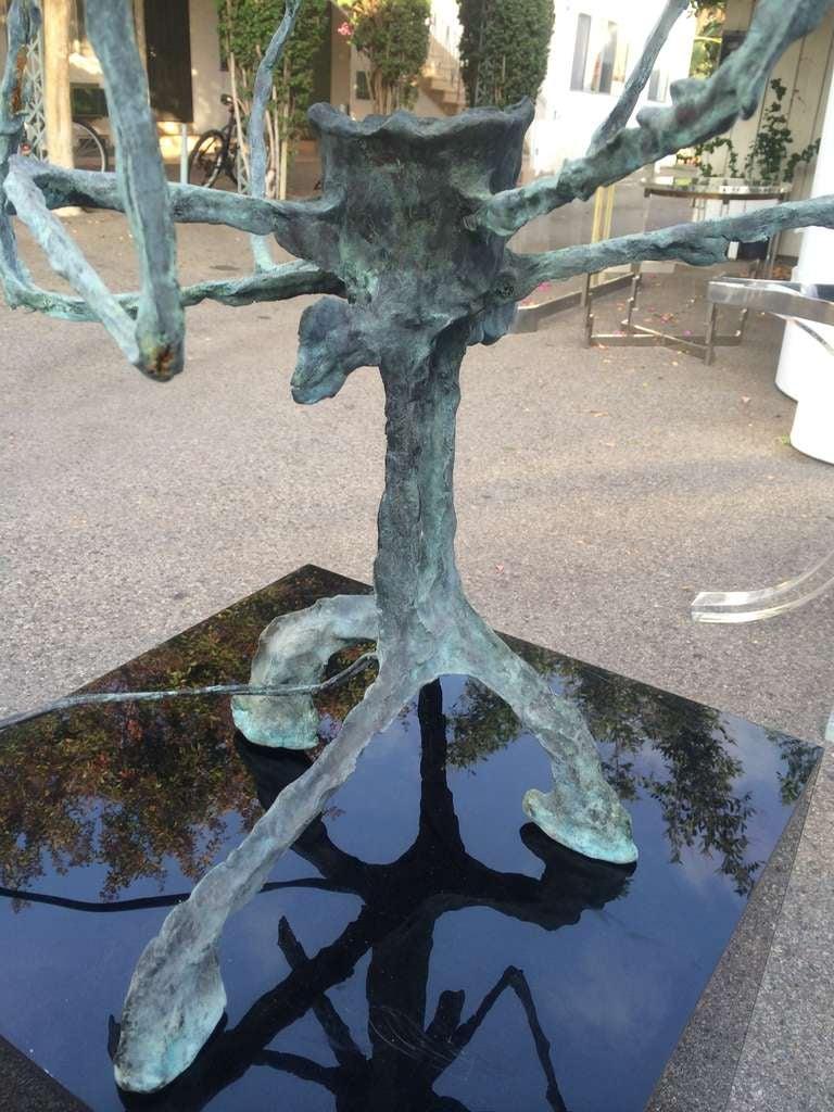 American Pair of Brutalist Table Lamps by Charles Hollis Jones For Sale