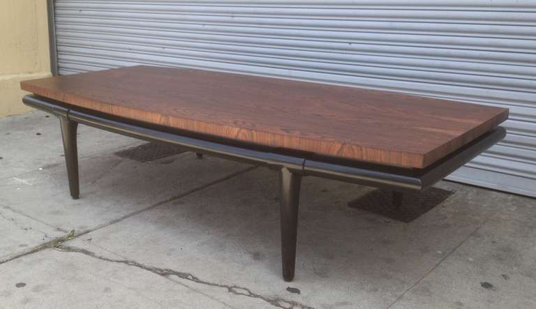 American Rosewood Coffee Table by Maurice Bailey for Monteverdi-Young For Sale
