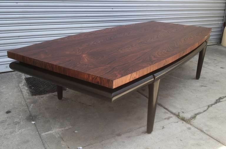 Mid-20th Century Rosewood Coffee Table by Maurice Bailey for Monteverdi-Young For Sale