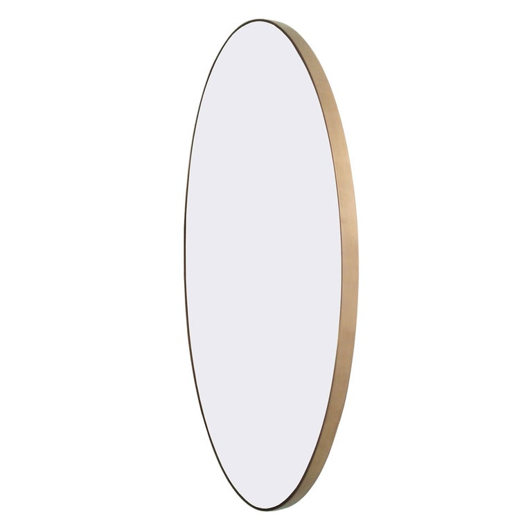 """Miror, Mirror"" Solid Brass Wall Mirror, Limited Edition of 11 For Sale"