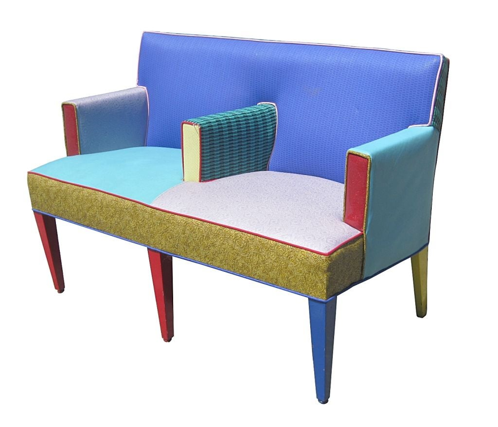 Ettore Sottsass Settee for Memphis Furniture Circa 1960s  : 881712760381432 from www.1stdibs.com size 1024 x 878 jpeg 92kB