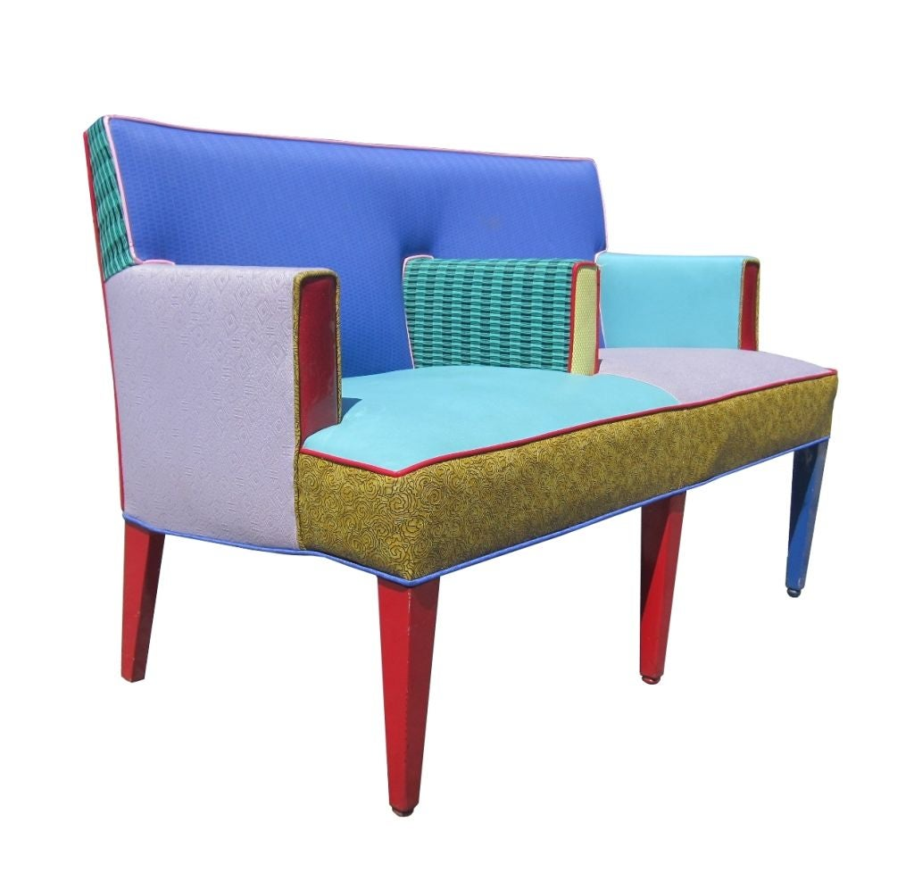Ettore Sottsass Settee for Memphis Furniture, Circa 1960s at 1stdibs for Ettore Sottsass Sofa  150ifm