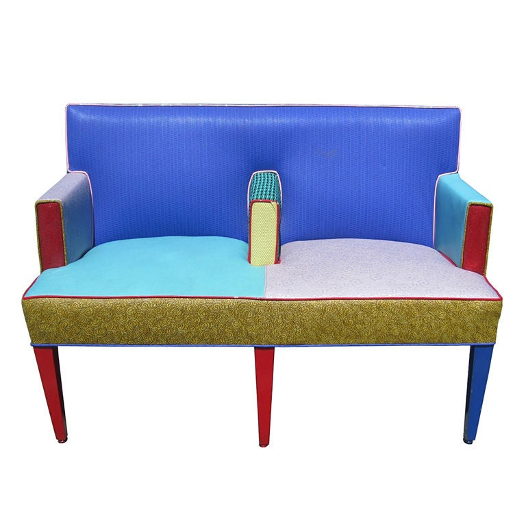 Ettore Sottsass Settee for Memphis Furniture, Circa 1960s at 1stdibs
