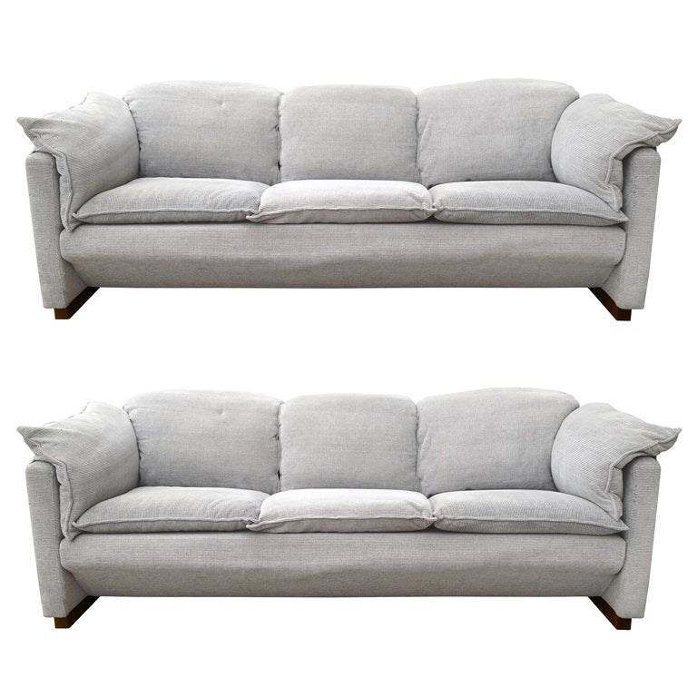 Pair of vintage sofas by niels bendtsen for eilersen at 1stdibs Retro loveseats