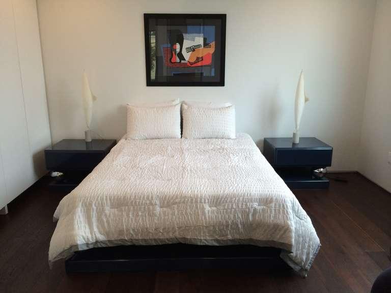 Vintage Platform Bedroom Set In Teal Color For Sale At 1stdibs