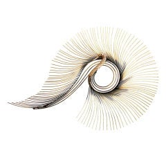 Curtis Jere Brass & Copper Large Swan Wall Sculpture