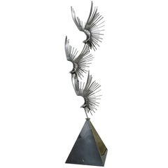 Curtis Jere Birds at Flight Floor Sculpture, Signed and Dated