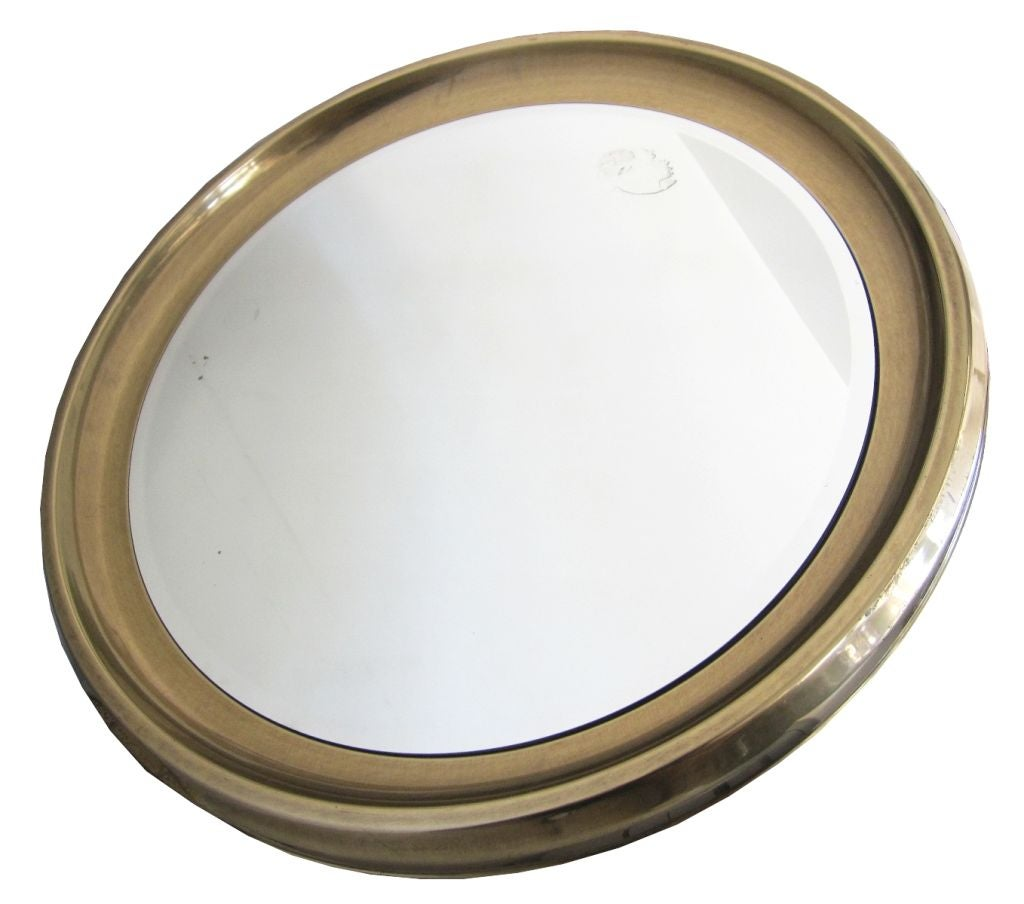 This Mastercraft Giant Brass Framed Mirror is no longer available.