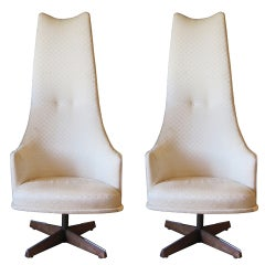 Adrian Pearsall High Back Chairs With Swivel Mechanism