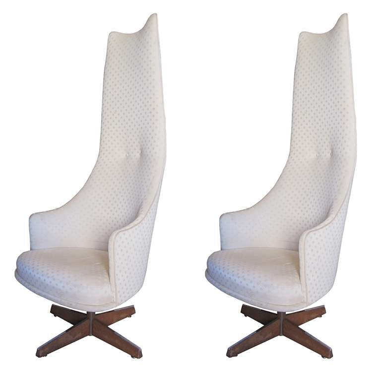 Adrian Pearsall High Back Chairs With Swivel Mechanism at