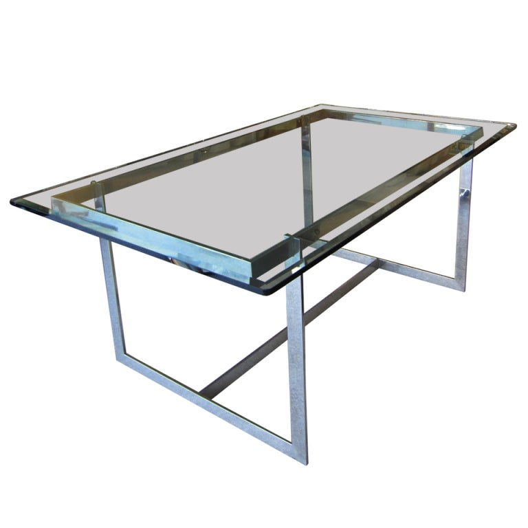 dining table glass chrome dining table