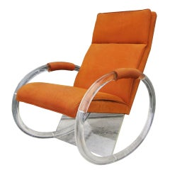 Charles Hollis Jones Lucite Rocker Chair