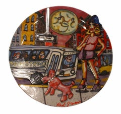 "Red Grooms ""Moonstruck"" Limited Edition Plate"