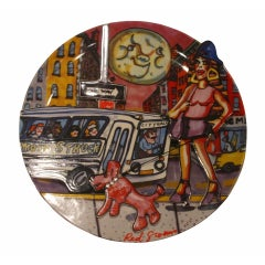 """Red Grooms """"Moonstruck"""" Limited Edition Plate"""
