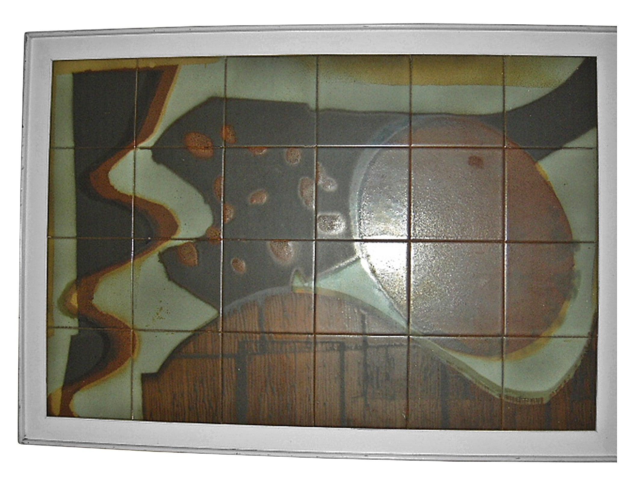 One-of-a-Kind 1950s Tile Abstract Painting